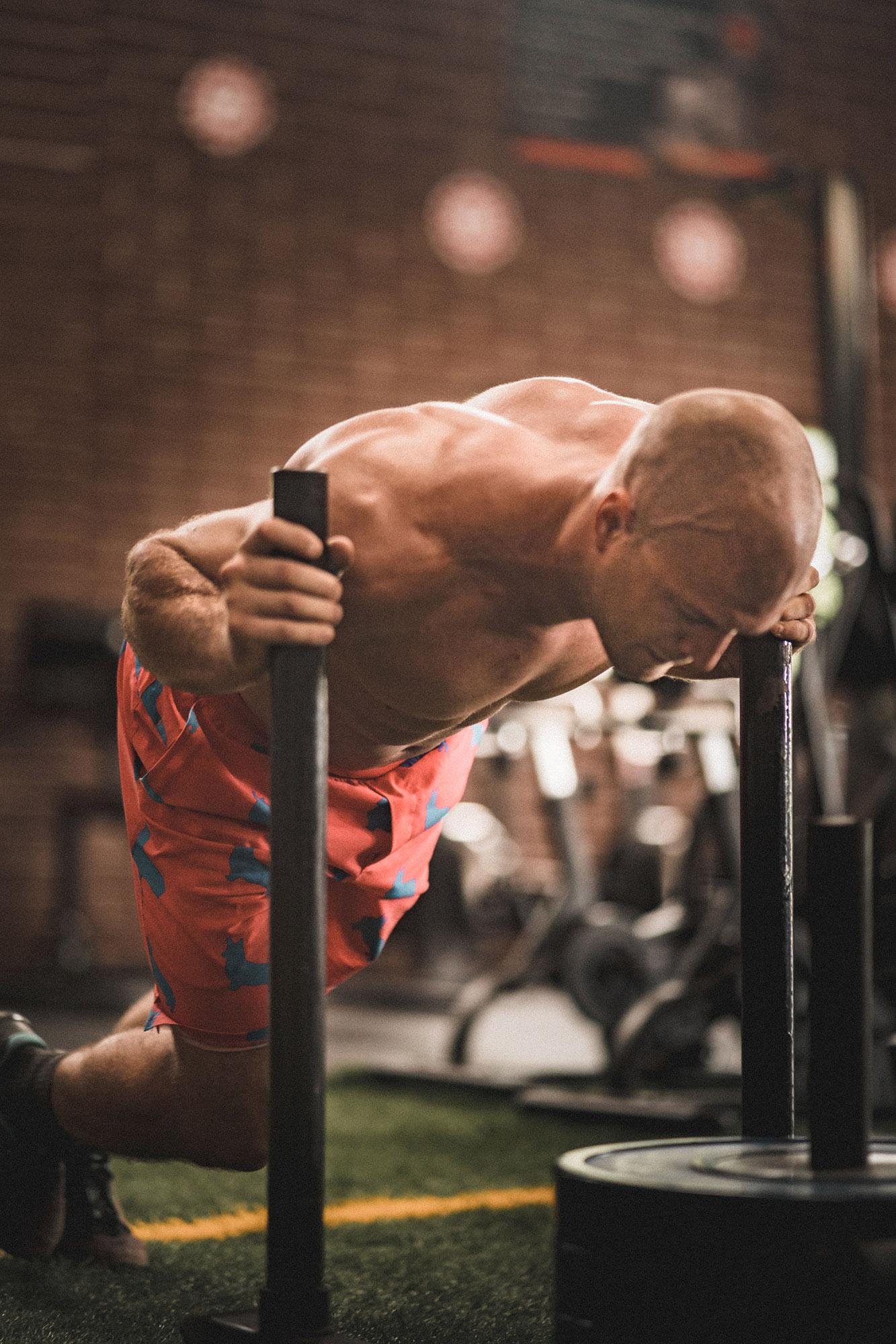 man doing aerobic workouts