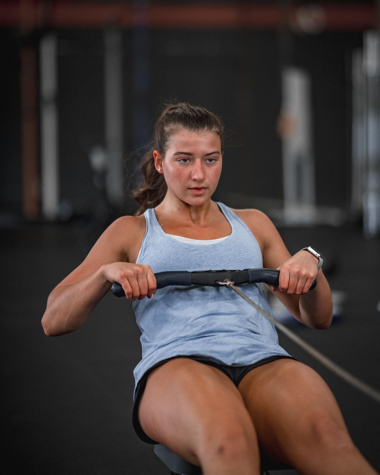 woman doing aerobic workouts